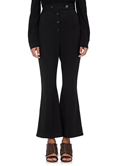 Proenza Schouler Women's Wool-Blend Twill Flared Trousers
