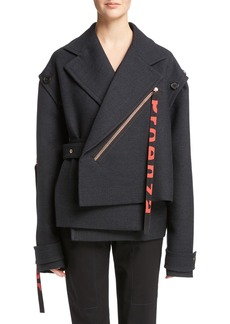 Proenza Schouler Stretch Wool Asymmetrical Coat
