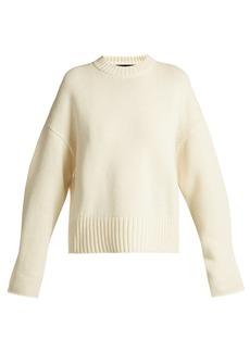 Proenza Schouler Wool-blend round-neck curved-hem sweater