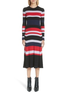 Proenza Schouler Wool, Silk & Cashmere Stripe Sweater Dress (Nordstrom Exclusive)