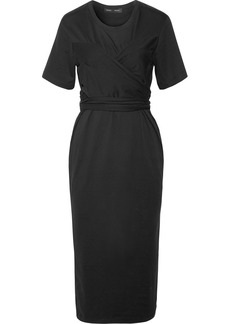 Proenza Schouler Wrap-effect Cotton-jersey Midi Dress