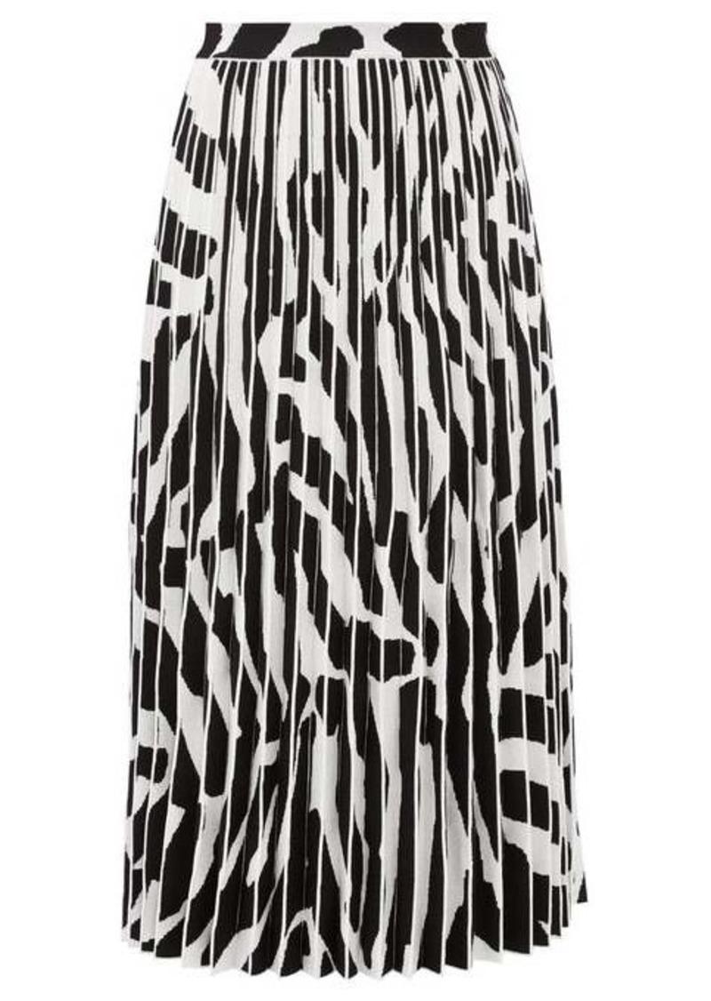 Proenza Schouler Zebra-jacquard pleated midi skirt