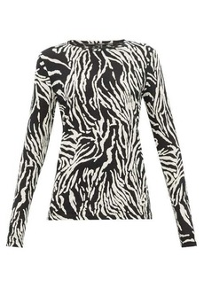 Proenza Schouler Zebra-print cotton-jersey long-sleeve T-shirt
