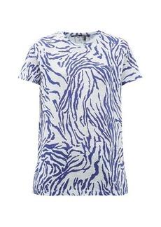 Proenza Schouler Zebra-print cotton-jersey T-shirt