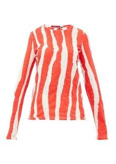 Proenza Schouler Zebra-print cotton long-sleeved T-shirt