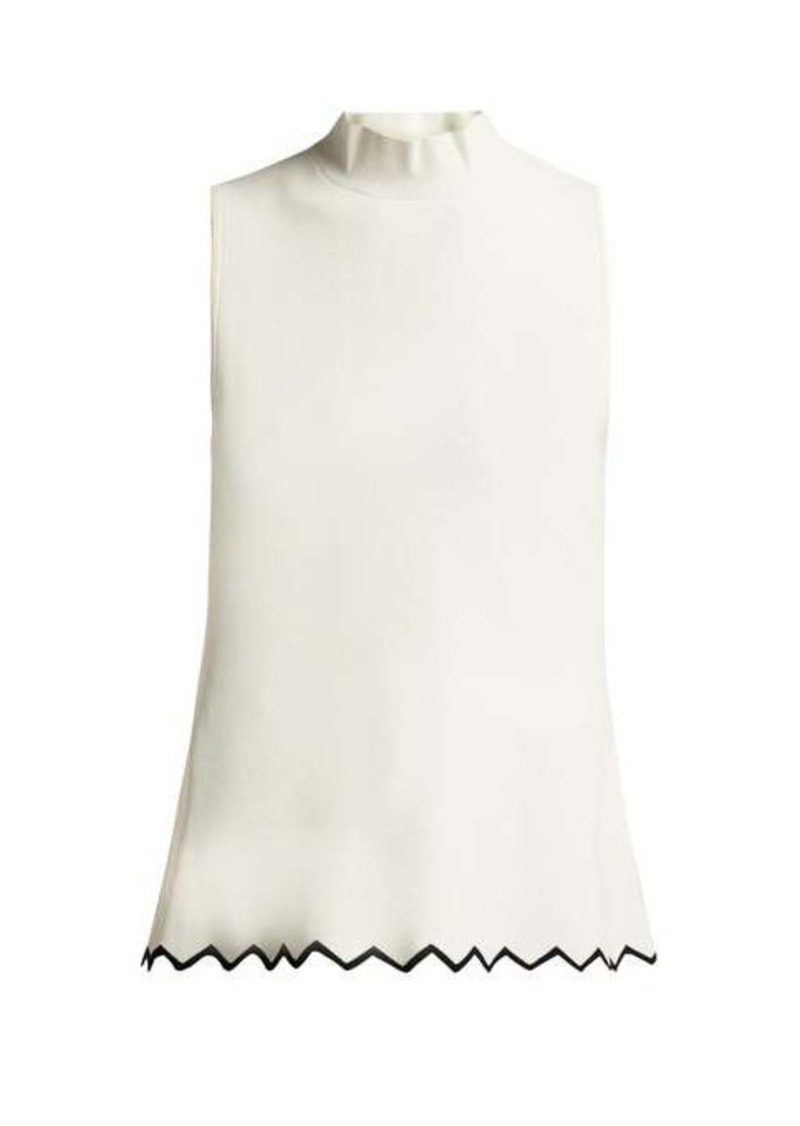 Proenza Schouler Zigzag-hem high-neck cady top