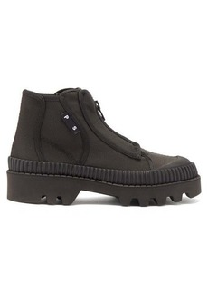 Proenza Schouler Zip-up rubber and canvas boots