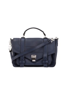 Proenza Schouler PS1+ Medium Leather Satchel Bag  Indigo