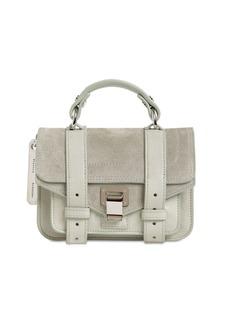 Proenza Schouler Ps1 Micro Suede & Leather Bag