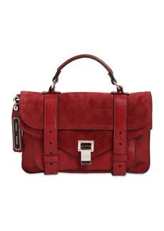 Proenza Schouler Ps1 Tiny Suede Top Handle Bag