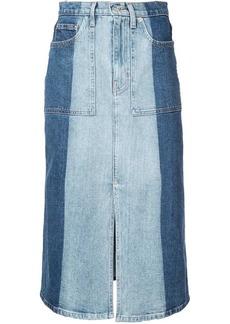 Proenza Schouler PSWL 2-Tone Denim Skirt