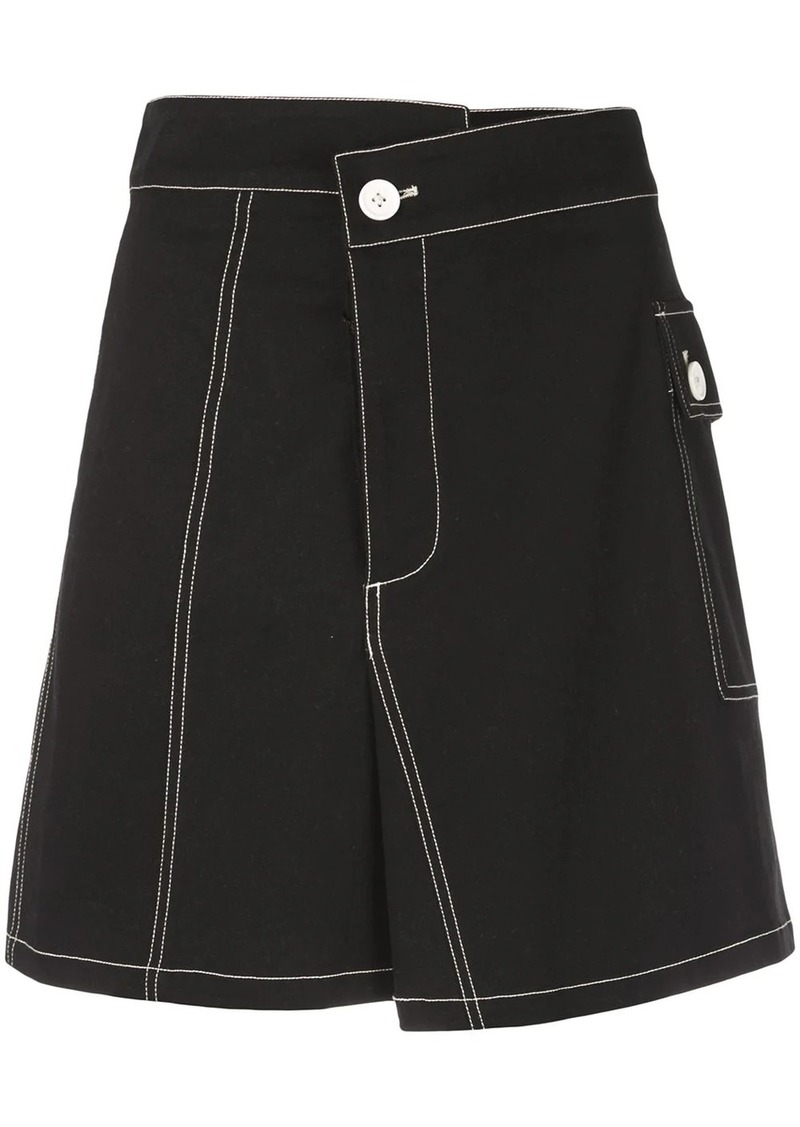 Proenza Schouler PSWL Asymmetrical Utility Cotton Pocket Skirt