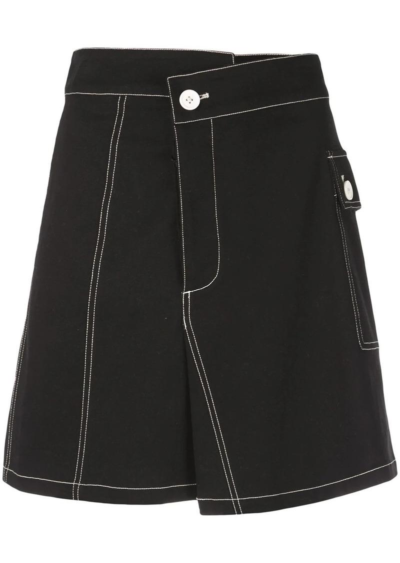 Proenza Schouler PSWL Asymmetrical Utility Cotton Pocket Skirt