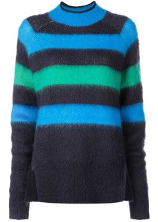 Proenza Schouler PSWL Brushed Stripe Wool Mohair Sweater