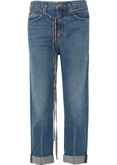 Proenza Schouler Pswl Canvas-trimmed Jeans