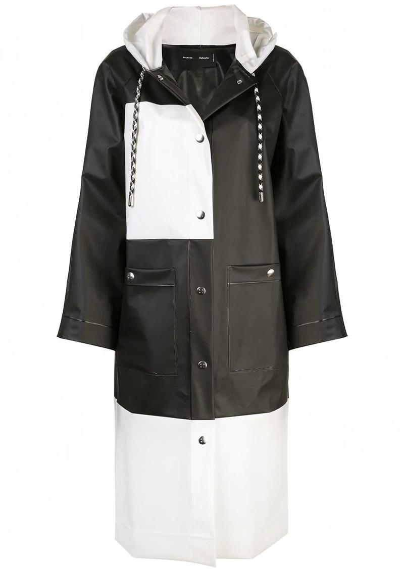 Proenza Schouler PSWL Colorblocked Long Raincoat