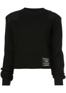 Proenza Schouler PSWL Care Label Patch Crewneck Sweater