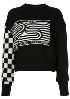 Proenza Schouler PSWL Checkerboard Sweater