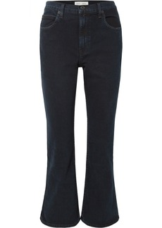Proenza Schouler Pswl Cropped High-rise Flared Jeans