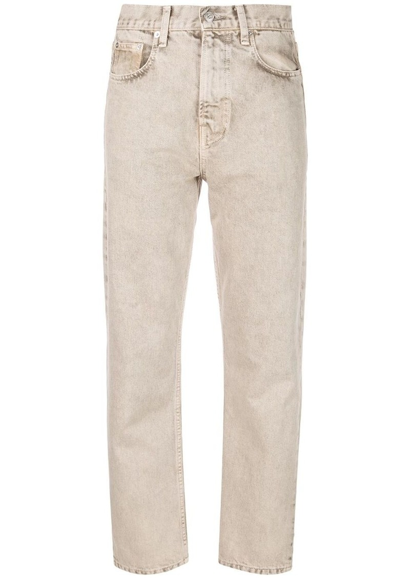 Proenza Schouler PSWL Cropped Straight Rigid Denim Jeans