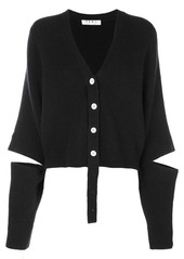 Proenza Schouler Double Faced Knit Cropped Cardigan