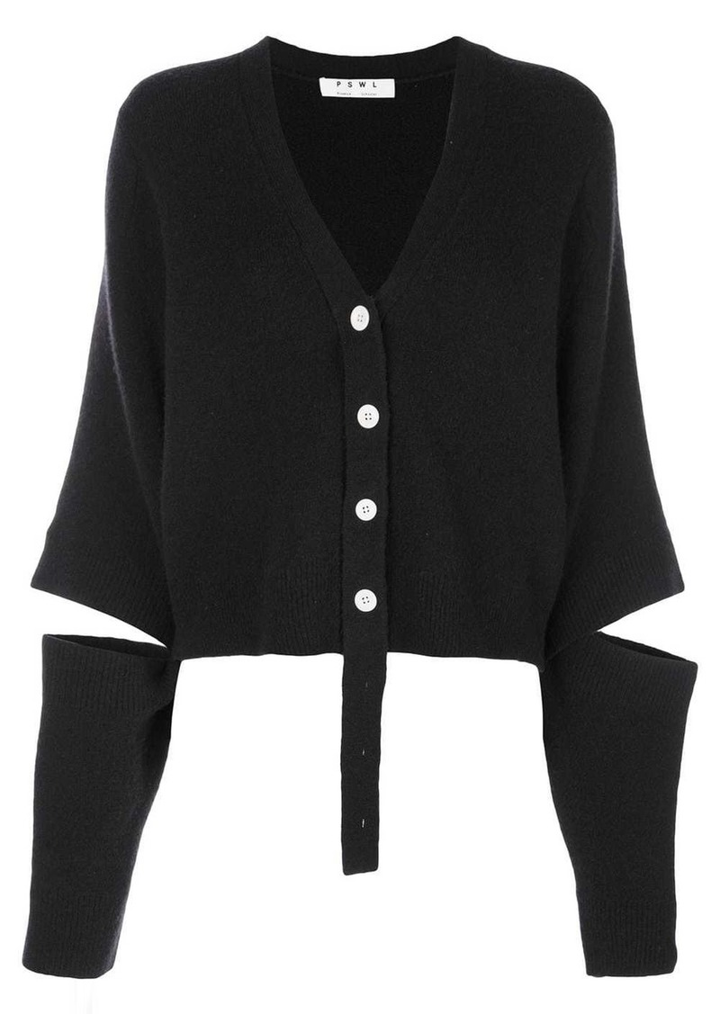 Double Faced Knit Cropped Cardigan