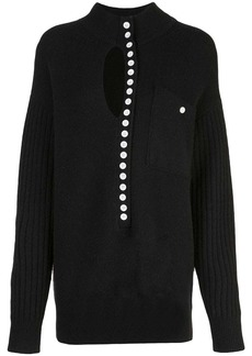 Proenza Schouler PSWL Double Faced Knit Elongated Henley