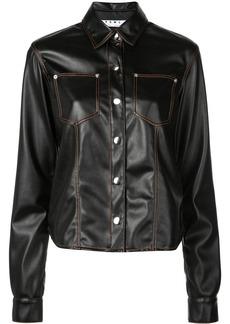 Proenza Schouler PSWL Faux Leather Button Down Shirt