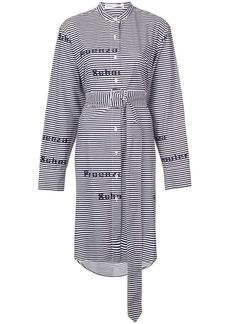 Proenza Schouler PSWL Striped Graphic Shirt Dress