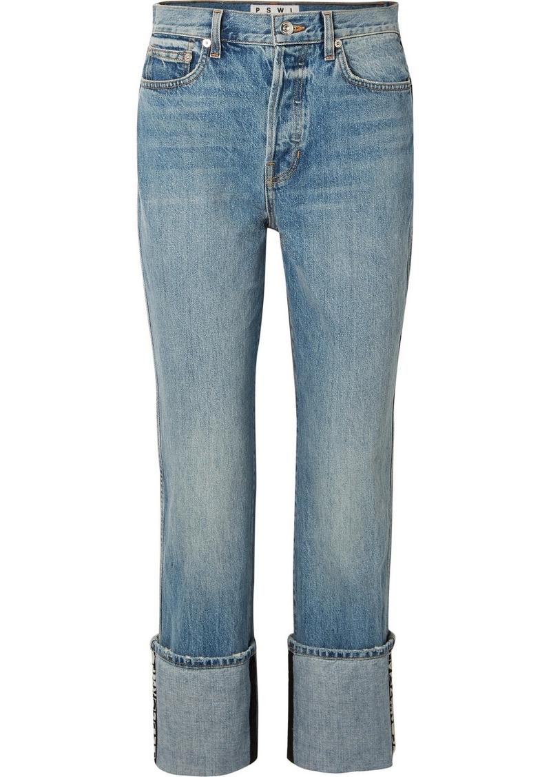 Proenza Schouler Pswl High-rise Straight-leg Jeans