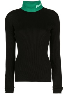 Proenza Schouler PSWL Logo Knit Long SleeveTurtleneck Top