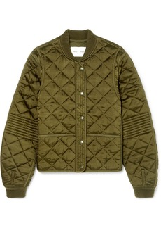 Proenza Schouler Pswl Quilted Satin Bomber Jacket