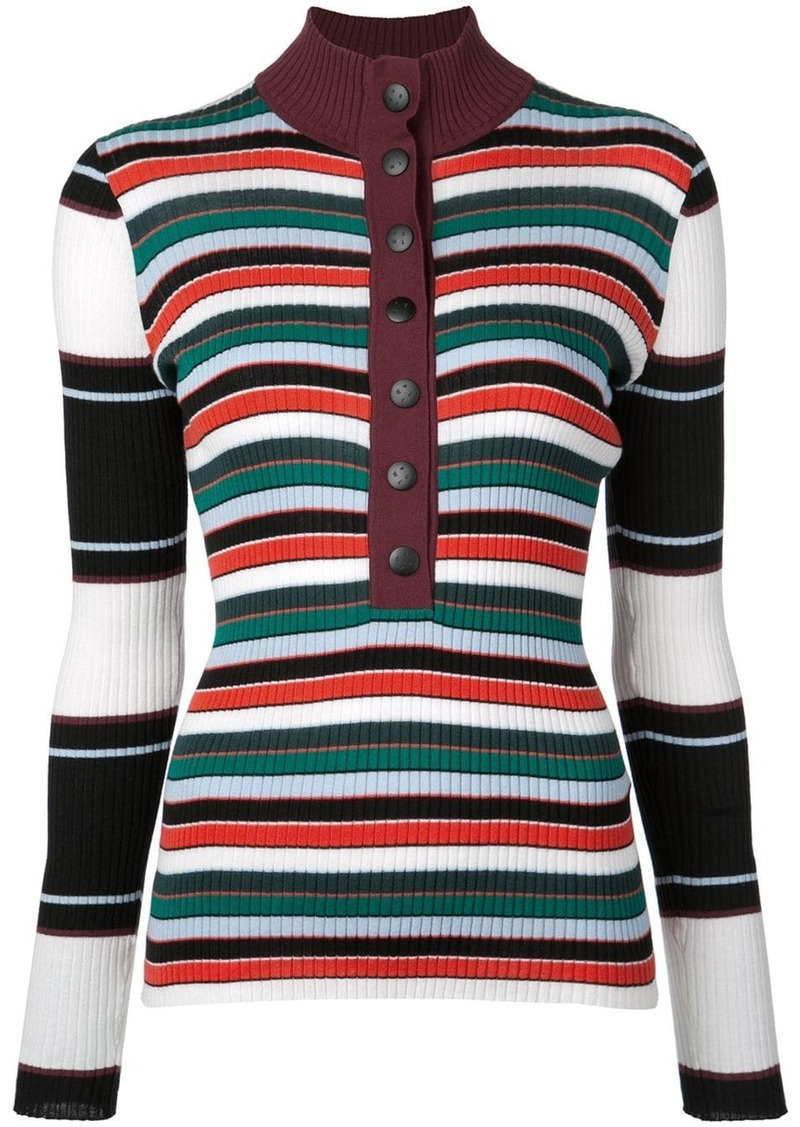 Proenza Schouler PSWL Rugby Striped Turtleneck Sweater