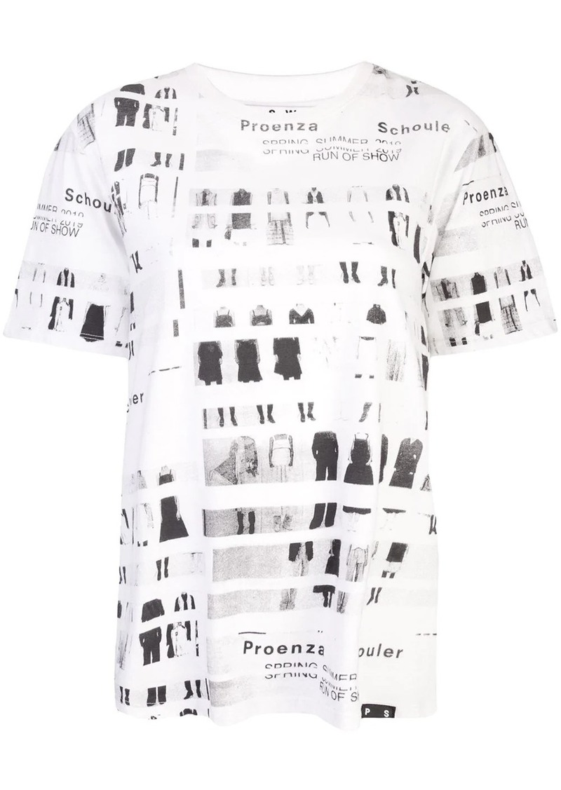 Proenza Schouler PSWL Run of Show Short Sleeve T-Shirt