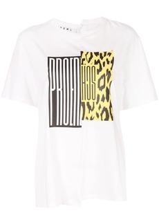 Proenza Schouler PSWL Split Logo Asymmetrical T-Shirt