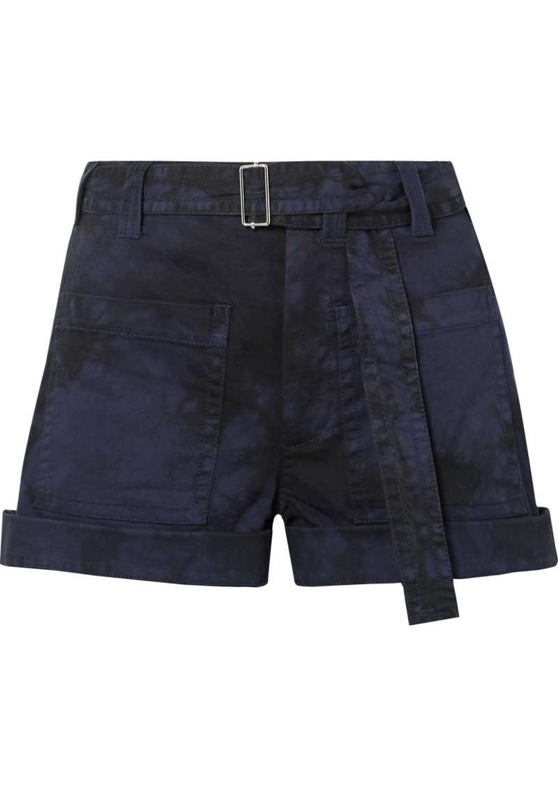 Proenza Schouler Pswl Tie-dyed Stretch-denim Shorts