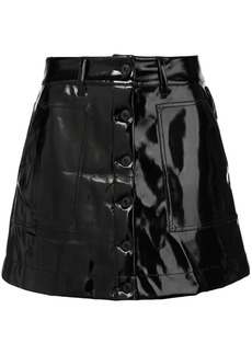 Proenza Schouler PSWL Vinyl Mini Skirt