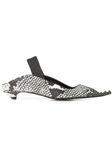 Proenza Schouler python embossed slingback pumps