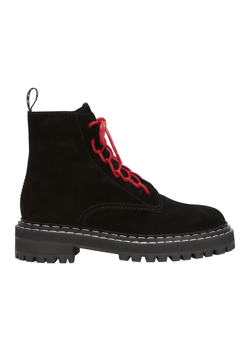 Proenza Schouler Red Lace-Up Combat Boots