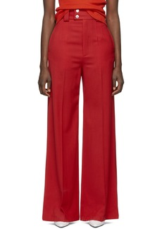 Proenza Schouler Red Wide-Leg Trousers