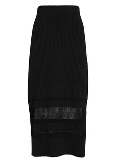 Proenza Schouler Rib Knit Midi Skirt