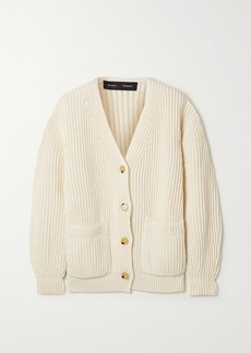 Proenza Schouler Ribbed Cotton Cardigan
