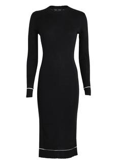 Proenza Schouler Ribbed Silk-Cashmere Midi Dress