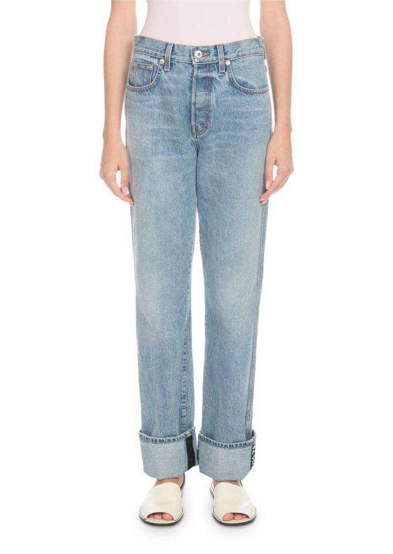 Proenza Schouler Rigid Cuffed Stovepipe Jeans
