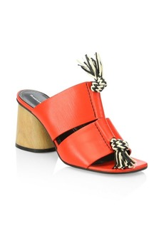 Proenza Schouler Rope-Detail Block Heel Mule Sandals