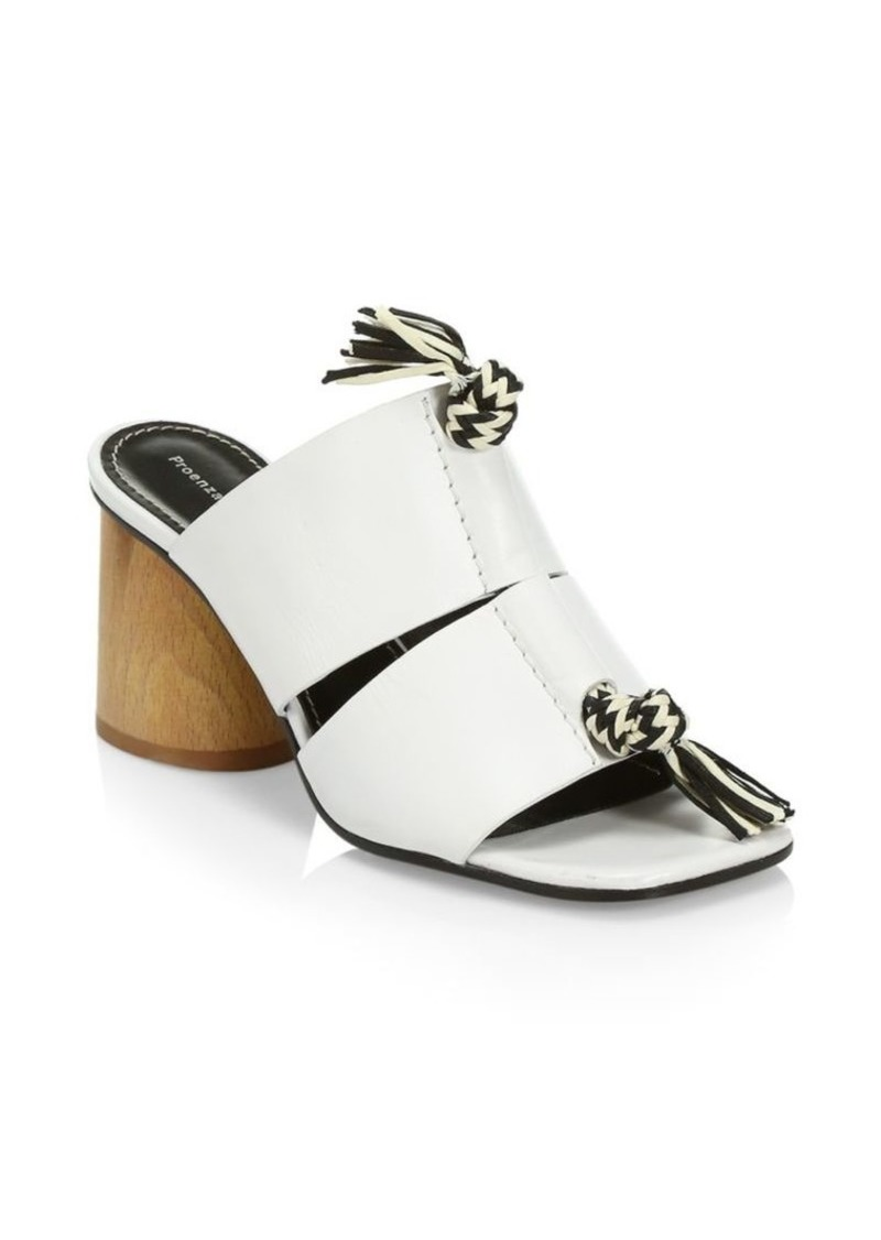 Proenza Schouler Rope Detail Block Heel Mules