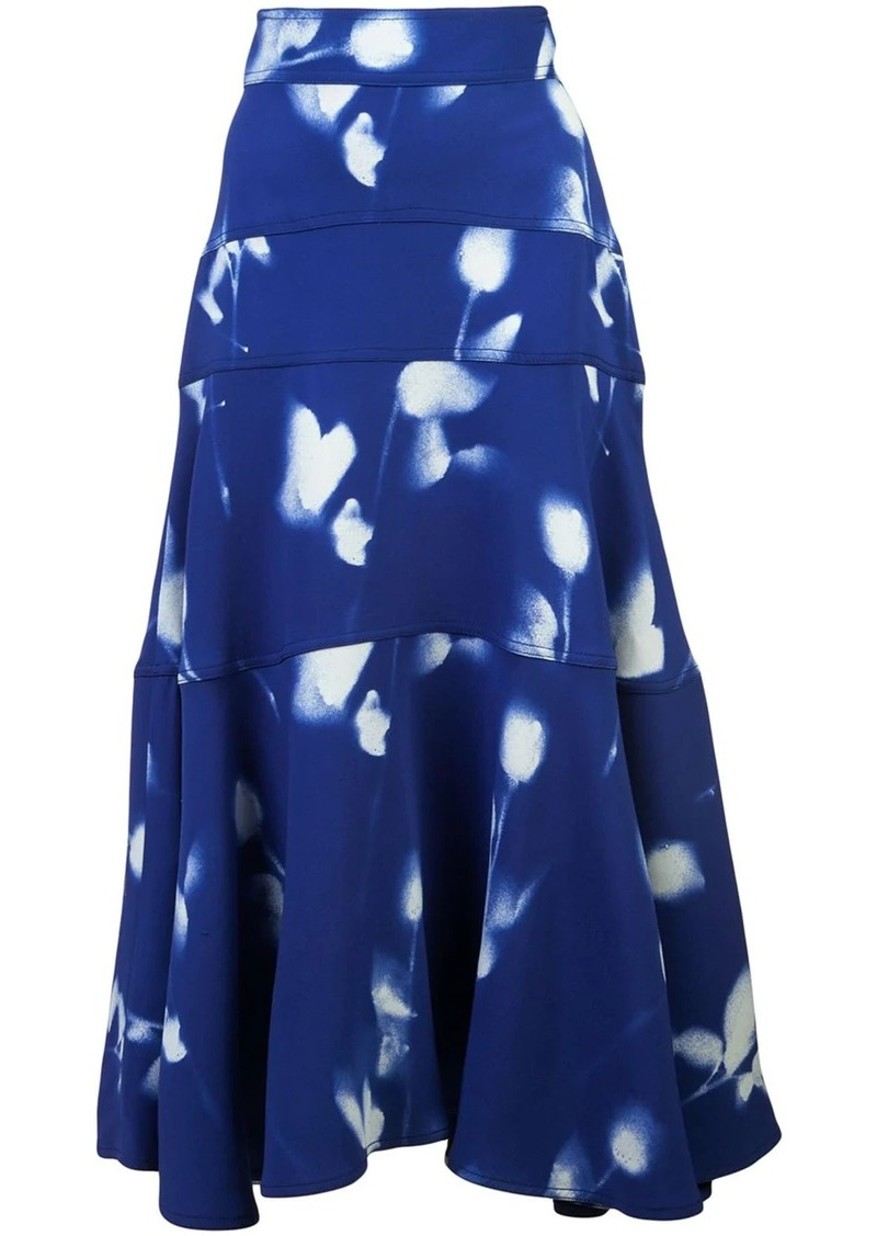 Proenza Schouler Rose Imprint Skirt