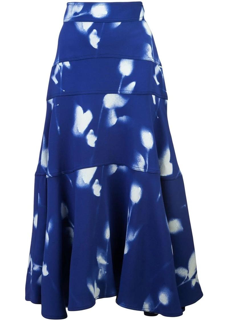 Proenza Schouler Rose Imprint Skirt