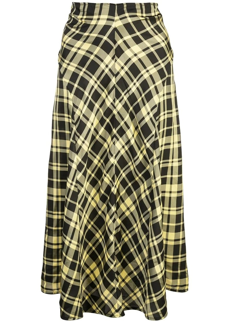 Proenza Schouler ruched seamed skirt