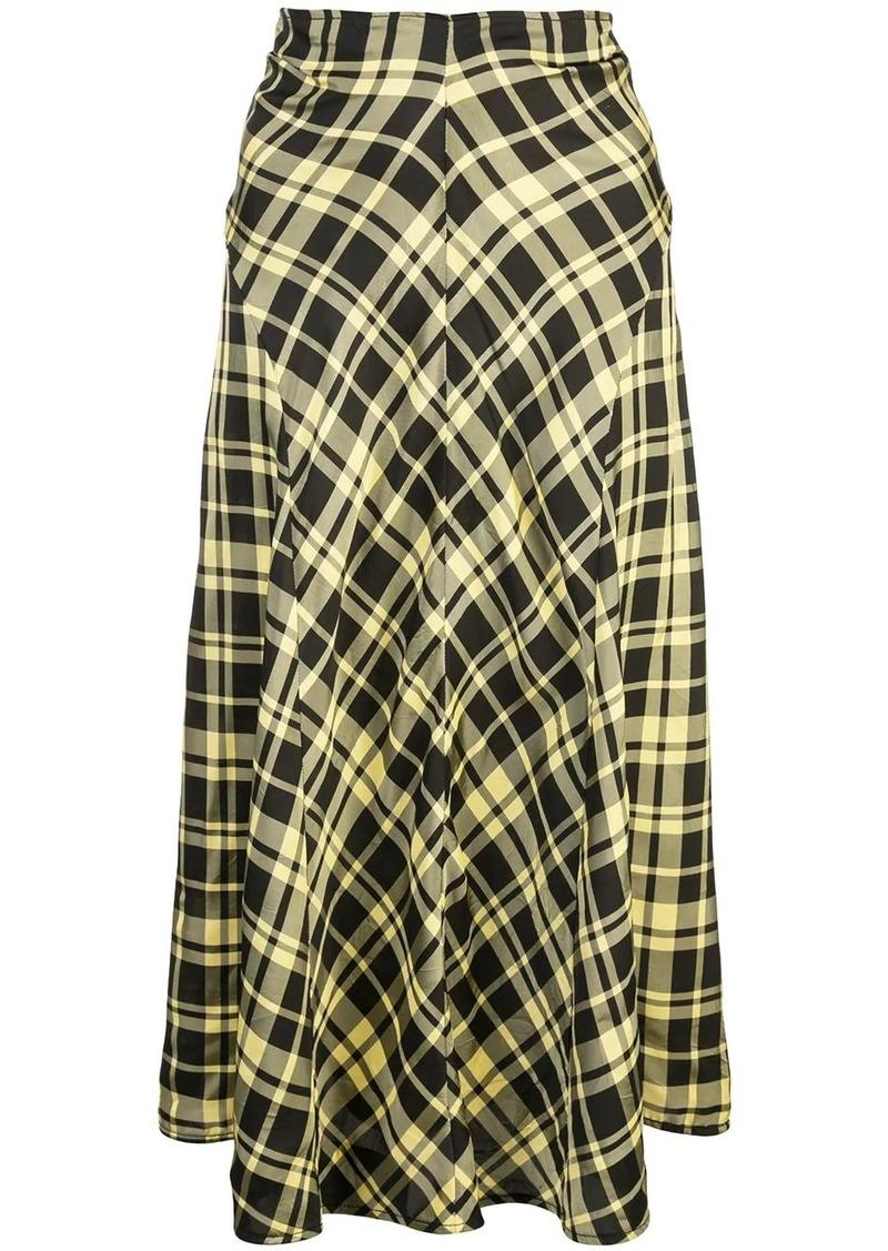 Proenza Schouler ruched seamed skirt